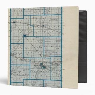 """Mapa del condado de Madison Carpeta 1 1/2"""""""