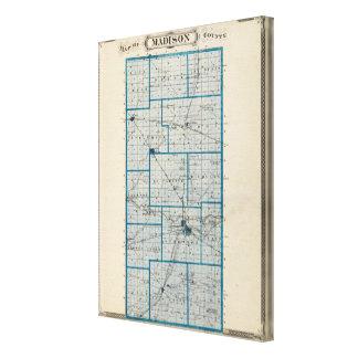 Mapa del condado de Madison Impresión En Tela