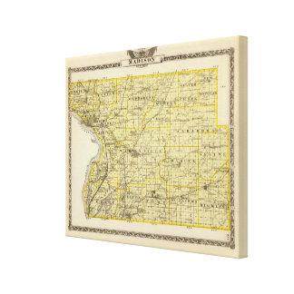 Mapa del condado de Madison Impresiones En Lona