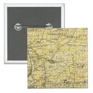 Mapa del condado de Madison Pin Cuadrada 5 Cm