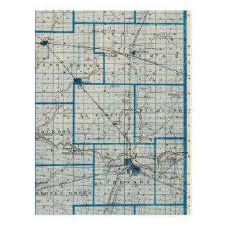 Mapa del condado de Madison Postal
