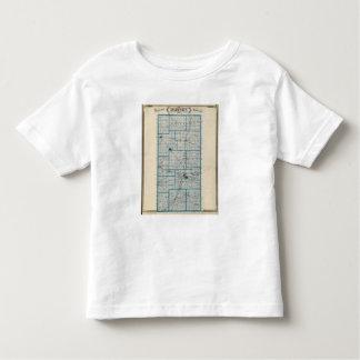 Mapa del condado de Madison T-shirt