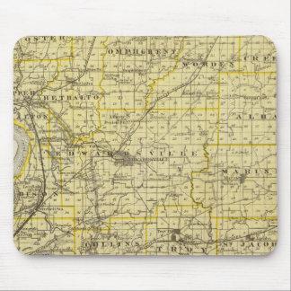 Mapa del condado de Madison Tapete De Ratón
