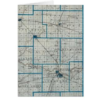 Mapa del condado de Madison Tarjeta De Felicitación