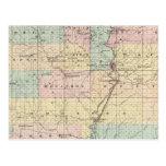Mapa del condado de Marathon Postales