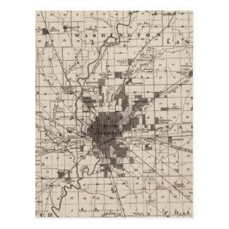 Mapa del condado de Marion 2 Postales