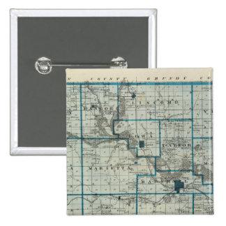 Mapa del condado de Marshall, estado de Iowa Pin Cuadrada 5 Cm