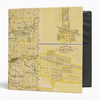 "Mapa del condado de Miami Carpeta 1 1/2"""
