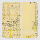 Mapa del condado de Miami Pegatina Cuadrada