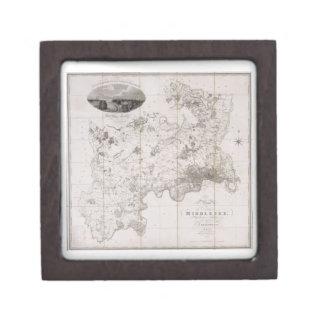 Mapa del condado de Middlesex, publicado 1819 (ban Cajas De Joyas De Calidad