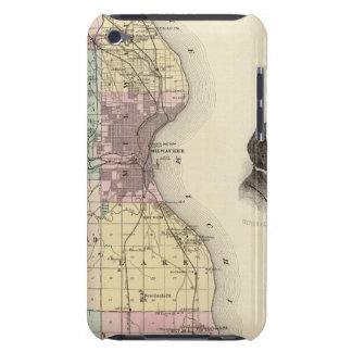 Mapa del condado de Milwaukee, estado de Wisconsin Case-Mate iPod Touch Carcasas