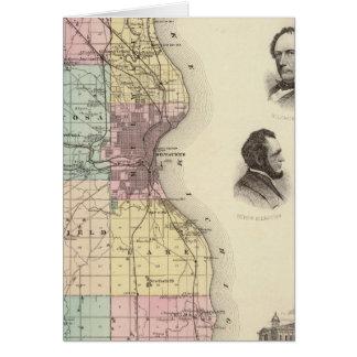Mapa del condado de Milwaukee, estado de Wisconsin Tarjetón