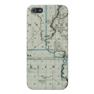 Mapa del condado de Monona, estado de Iowa 2 iPhone 5 Carcasa