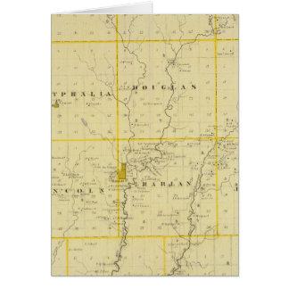 Mapa del condado de Monona, estado de Iowa Felicitación
