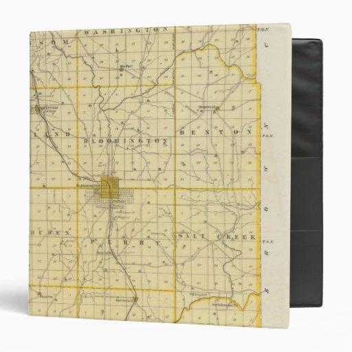 """Mapa del condado de Monroe Carpeta 1 1/2"""""""