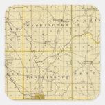 Mapa del condado de Monroe Calcomania Cuadrada Personalizada