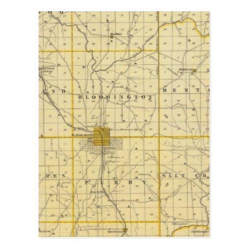 Mapa del condado de Monroe Tarjetas Postales