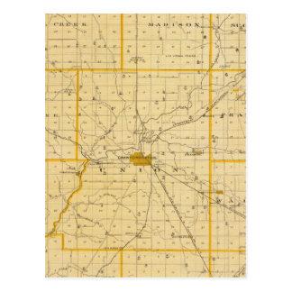 Mapa del condado de Montgomery Postal