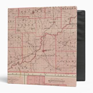 """Mapa del condado de Morgan con Mooresville Carpeta 1 1/2"""""""