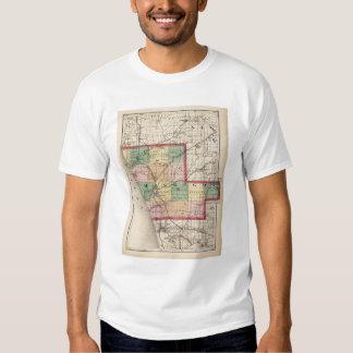Mapa del condado de Muskegon, Michigan Playeras