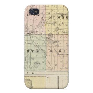 Mapa del condado, de Necedah y de Wautoma de Waush iPhone 4 Protector