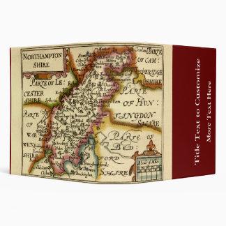 "Mapa del condado de Northamptonshire, Inglaterra Carpeta 2"""