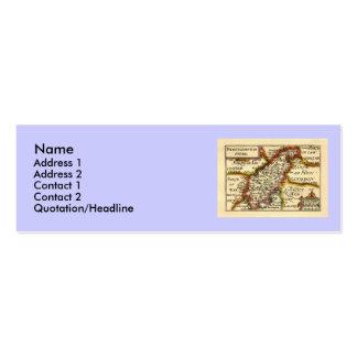 Mapa del condado de Northamptonshire, Inglaterra Tarjetas De Visita Mini