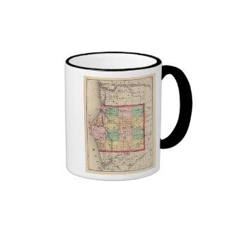 Mapa del condado de Oceana, Michigan Taza A Dos Colores