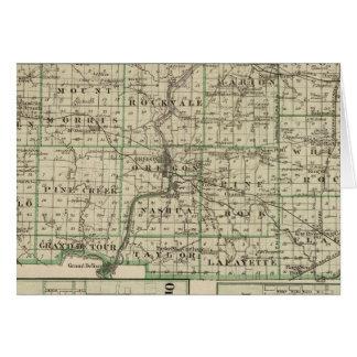 Mapa del condado de Ogle, polo y de Oregon Tarjeta De Felicitación