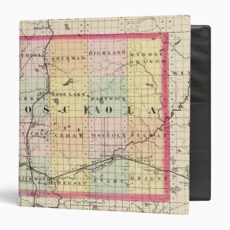 "Mapa del condado de Osceola, Michigan Carpeta 1 1/2"""