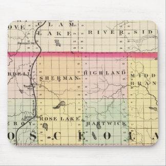 Mapa del condado de Osceola, Michigan Tapete De Raton
