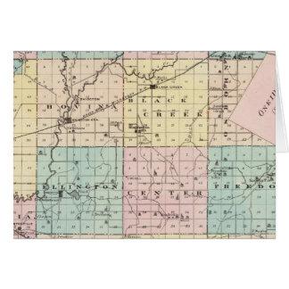 Mapa del condado de Outagamie, estado de Wisconsin Felicitaciones