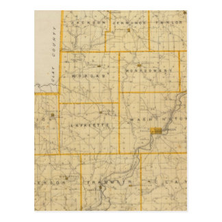 Mapa del condado de Owen Postales