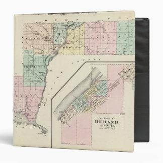 """Mapa del condado de Pepin y del pueblo de Durand Carpeta 1 1/2"""""""