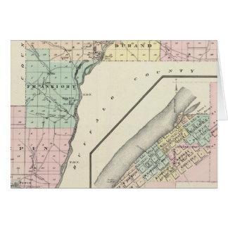 Mapa del condado de Pepin y del pueblo de Durand Tarjeta De Felicitación
