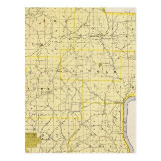 Mapa del condado de Perry Postal
