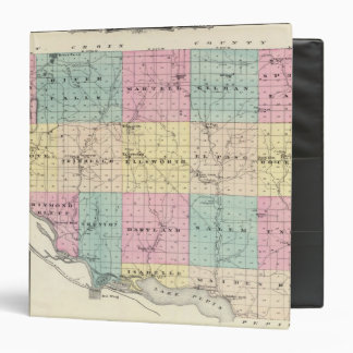 """Mapa del condado de Pierce y de Ellsworth Carpeta 1 1/2"""""""
