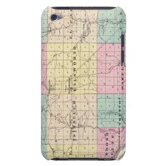Mapa del condado de Pierce y de Ellsworth Case-Mate iPod Touch Carcasa
