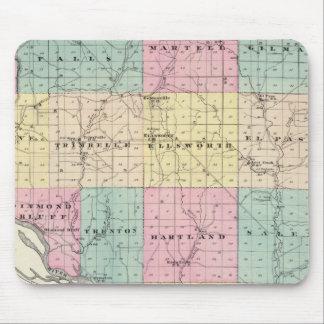 Mapa del condado de Pierce y de Ellsworth Mouse Pads