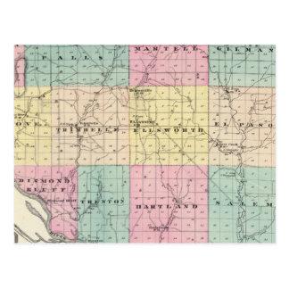 Mapa del condado de Pierce y de Ellsworth Postal
