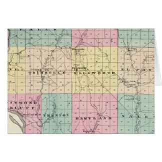 Mapa del condado de Pierce y de Ellsworth Tarjeta De Felicitación