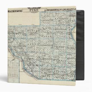 """Mapa del condado de Pike y de Pittsfield Carpeta 1 1/2"""""""