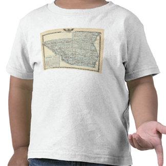 Mapa del condado de Pike y de Pittsfield Camiseta