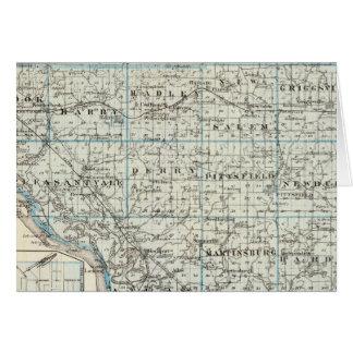 Mapa del condado de Pike y de Pittsfield Tarjeta De Felicitación