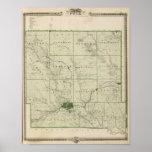 Mapa del condado de Polk, estado de Iowa Póster