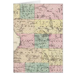 Mapa del condado de Polk, estado de Wisconsin Felicitacion