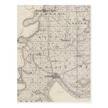 Mapa del condado de Posey Postales