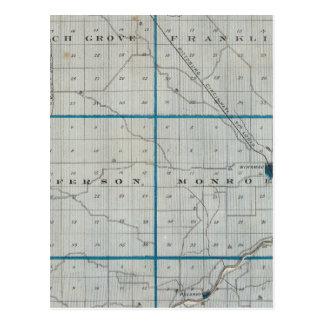 Mapa del condado de Pulaski Tarjeta Postal