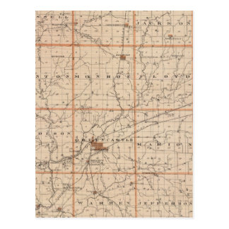 Mapa del condado de Putnam Tarjetas Postales
