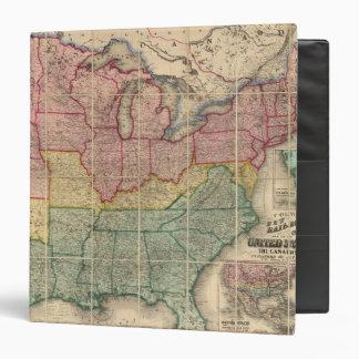 Mapa del condado de Railroadand de Colton, Estados